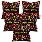 Best Happy Sales Friends Gift Sets - Indigifts Indibni Happy Diwali Quote Micro Satin Cushion Review