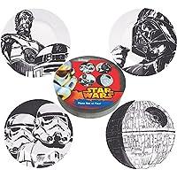 Set di piatti Stormtrooper - Dart Fener - Droidi R2-D2 & C-3PO - Morte Nera - pacchetto regalo - Set di 4 piatti Guerre stellari - Star Wars - Gift