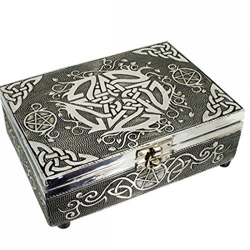 Tarot - Schmuckdose - Tarot- und Schmuckkistchen Pentagramm - Karten, Schmuck, kleine Schätze - Dose - Box - CUTE NAILS