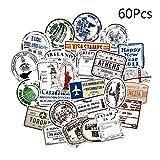 rryilong 60 Pcs Vintage Graffiti Timbres Papier Autocollant Voyage Main Compte Compte Cas De Téléphone Portable...