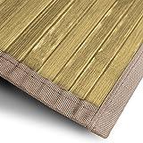 Bambusteppich Tibet (Natur) | für Bad und Wohnzimmer | natürlich wohnen mit 100% echtem Bambus | Bambusmatte in vielen Größen (200x300 cm)