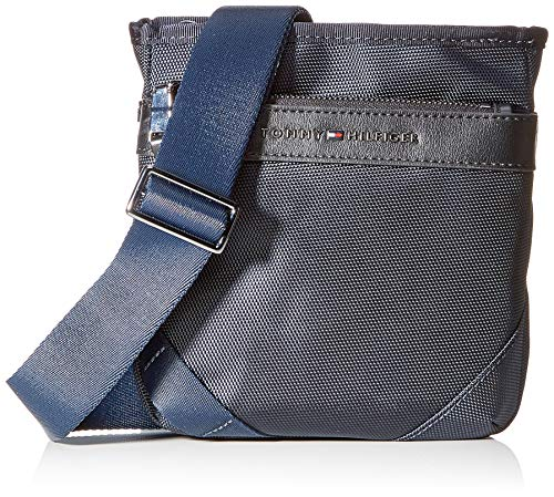 Tommy Hilfiger Elevated Nylon Mini Crossover, Borse Uomo, Blu (Sky Captain), 1x1x1 Centimeters (W x H x L)