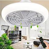 Ventilateur de plafond avec éclairage LED, vitesse de vent réglable, intensité variable avec télécommande, plafonnier LED mod
