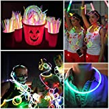 Glow Sticks, [100 Packs, Multi-Color]E2Buy Light Sticks Bracelets (Mixed)