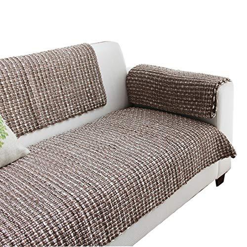 DFamily Estilo Europeo Funda de sofá Mano Antideslizante Protector de sofá Muebles Castillos hinchables para Mascotas Perro sofá seccional-marrón 70x120cm(28x47inch)(1 Pieza)