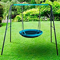 Rebo UFO Bird Nest Metal Swing Set - Childrens Garden Swing, Metal Nest Swing, Outdoor Swing Set