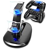 KONKY Ricarica Controller PS4 Caricatore , Dual USB Charging Station per PS4 Caricabatteria Stazione...