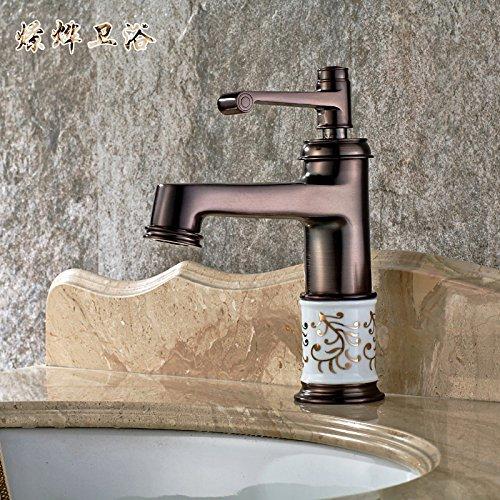 Einhebelmischer für die Küche, mit herausziehbarem Sprühkopf, 360 Grad drehbar, Küchenarmatur in Antik-Kupfer, für heiße und kalte Badezimmer, mit UK-Standardarmaturen
