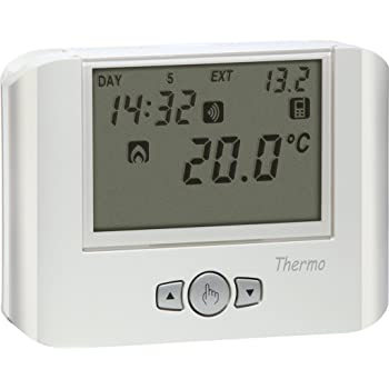 Fantini cosmi ch140gsm cronotermostato settimanale con gsm for Termostato touchscreen gsm vimar 02906