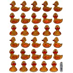 Duck Animal sticker decal Metallic Glitter 1 sheet Dimensions: 13.5 cm x 10 cm