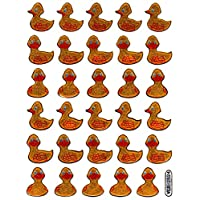 Ducks Ducklings Animals Colourful Sticker 1 Sheet 135 mm x 100 mm Set of 30 Stickers Crafts Children Party Metallic Look
