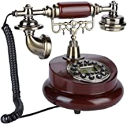Antique Telephone, Fixed Digital Vintage Telephone Classic European Retro Landline Telephone Corded with Hanging Headset for Home Hotel Office Decor