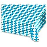 Mantel Bayern Azul/Blanco Diamantes plástico Mantel abwischbar cerveza mesa 8...
