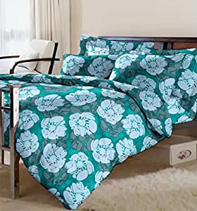 Raymond Gloriosa Cotton Double Bedsheet with 2 Pillow Covers - Blue (000803-BF03)