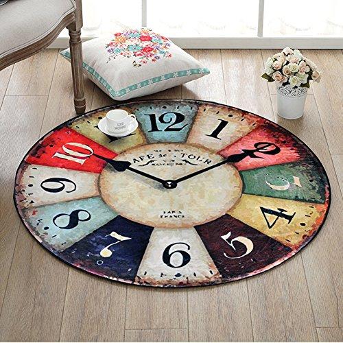DW&HX dekorative teppiche,Runde,Europa und amerika retro-uhr,Läufer-bereich,Sofa-seite,Hanging...