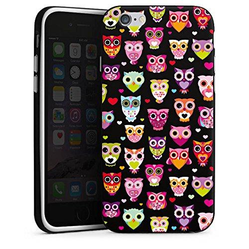 Apple iPhone 5 Housse Outdoor Étui militaire Coque Owl hibous Motif Motif Housse en silicone noir / blanc