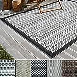 casa pura Outdoor-Teppich Eco-Beauty | mit Bordüre | Ideal für Terrasse, Balkon, Garten, Küche, Flur | aus Kunststoff Wetterfest und rutschsicher | Viele Größen und Farben (Bologna, 200x290 cm)