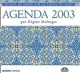 Agenda 2003 : Points de croix sur le thème du bleu