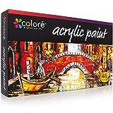 Set de 48 Pinturas Acrílicas de COLORE VIBRANT LIFE (Tubos de 22ML) con Tecnología de Pigmentación VibrancePro