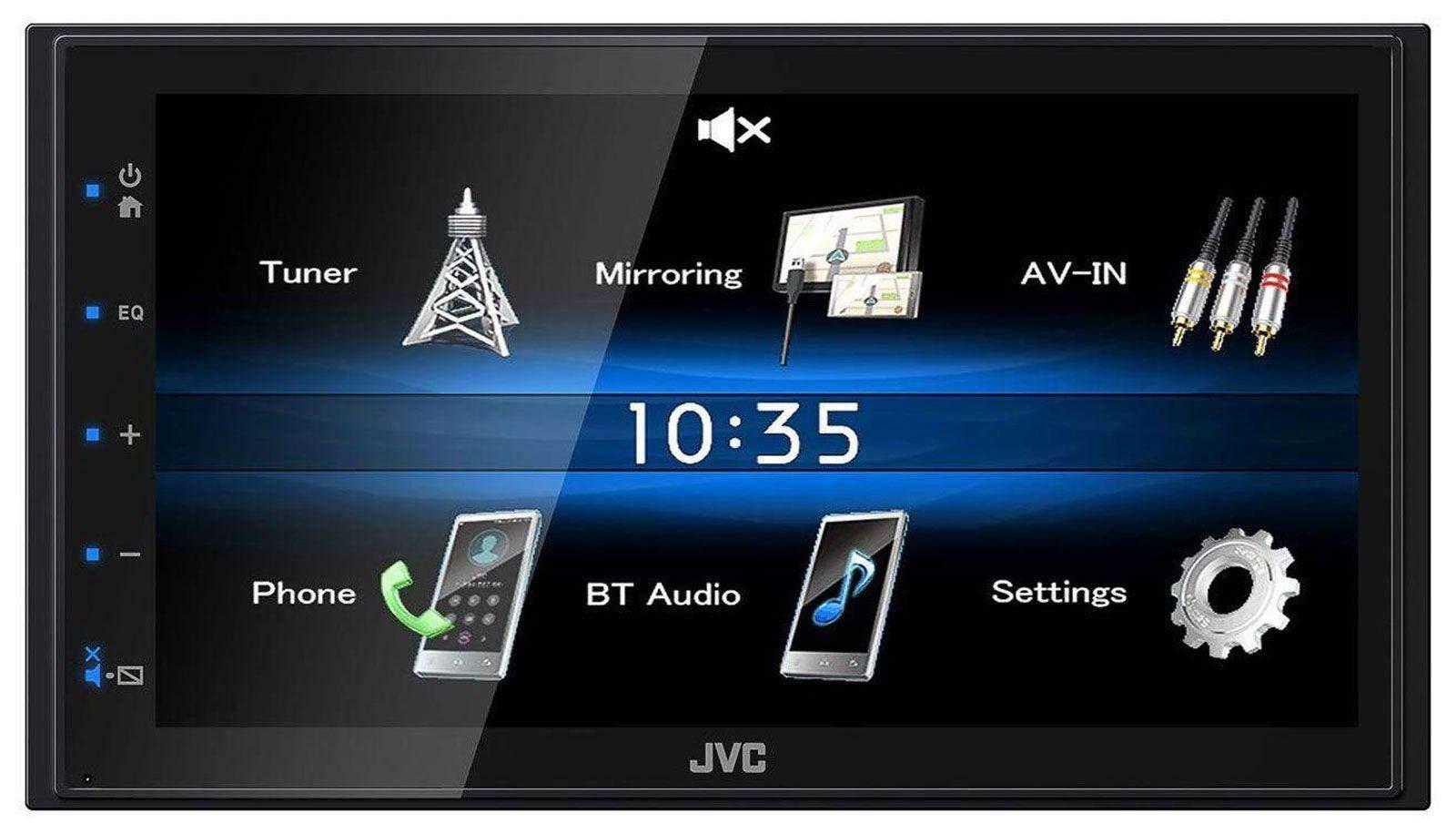 JVC-KW-M25BT-USB-2DIN-Bluetooth-MP3-AUX-Autoradio-fr-Audi-A4-B5-99-01-Symphony-Bose-Aktivsystem
