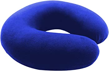 Jerry's Super Soft/Fully Comfortable Pillows for Head Support-Imported Fabric U Shaped-Foam Color Blue Travel/Neck Pillow