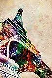 Close Up Eiffel Tower Watercolor Poster Michael Tompsett (61cm x 91,5cm)