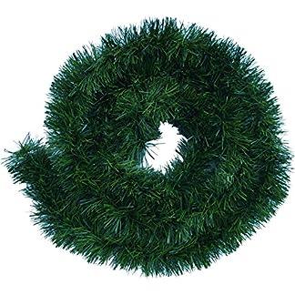 Handel24NET Excelente guirnalda decorativa artificial de 5 m en verde abeto – uso flexible en interiores y exteriores – Esta guirnalda de abeto deleita a toda la familia