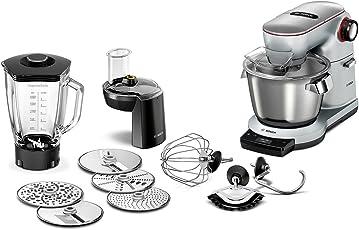 Bosch Optimum MUM9DT5S41 Küchenmaschine (1500 Watt, SensorControl Plus, edelstahl-Rührschüssel, 7 Schaltstufen) platinum silber