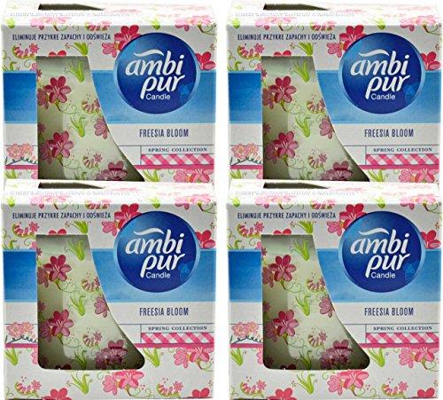 4x Ambi Pur DUFTKERZE im Glas - Frische Blüte Spring collection - 100g ( 4´er Pack )