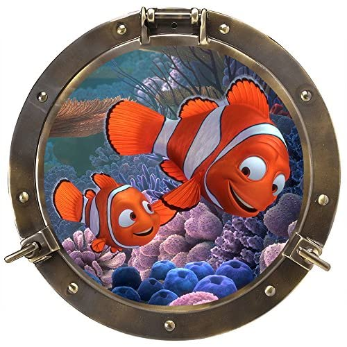 Chicbanners Póster Autoadhesivo para Pared de Porthole Underwater Buscando a Nemo 3D V104, tamaño 750 mm de Ancho x 750… 4