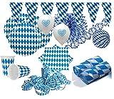 KPW XXL 91 Teile Bavaria Party Deko Set Oktoberfest für 20 Personen