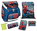 Scooli Schulranzen Set Campus UP, Marvel Spider-Man, 6 teilig, 40 cm, 20 L, Blau
