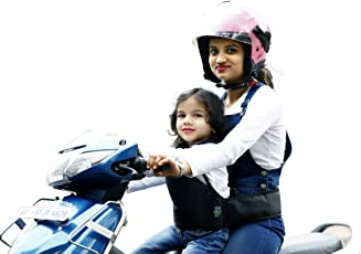 Kidsafe Two Wheeler Child Safety Seat Belt, Cool Black