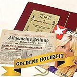 Geschenkidee zur Goldenen Hochzeit: Zeitung vom Tag der Hochzeit - Hochzeitszeitung (Gechenkset Zeitreise)