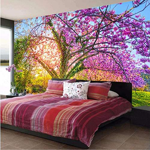 Benutzerdefinierte Wandbild Tapete Kirschblütenbaum 3D Floral Wandmalerei Papier Wohnkultur Wohnzimmer Schlafzimmer Tv Hintergrund Foto-200x140cm (Dschungel-wc-papier)