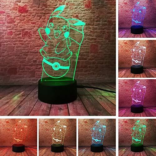 3D Cartoon Charakter Action Tasche Monster 7 Farbe Nachtlicht Halloween Kind Kind Spielzeug Weihnachtsgeschenk USB LED Licht
