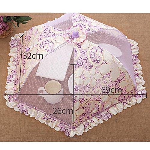 Isolation Couvercle de table de couverture Couvercle de table pliable Rond de riz au couvre-lit (4 couleurs en option) (69 * 32cm) Antiparasitaire (Couleur : C)