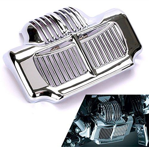 Preisvergleich Produktbild CICMOD Motorrad Ölkühlerabdeckung Cover für Harley Road Kings Street Glides 2011-2015 (Silber)