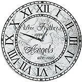 40 cm Wanduhr – Engelsfeder Kollektion ´Wenn Federn erscheinen sind Engel nah`