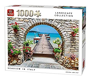 King 5710 Seaview in Italy - Puzzle (68 x 49 cm, 1000 Piezas)