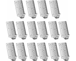 16 Pack of Self Adhesive Hooks, SMALUCK Stainless Steel Adhesive Wall Hanger for Robe, Coat, Towel, Keys, Bags, Home, Kitchen