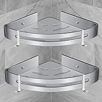 Etagère de Douche d'Angle, RenFox Etagère de Salle de Bain Sans Forage Panier Rangement Douche Aluminium Murale Adhésive…
