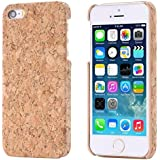 ECENCE APPLE IPHONE SE / 5 5S KORK SCHUTZ HÜLLE HOLZ NATUR HARD CASE COVER HANDY TASCHE 13020502