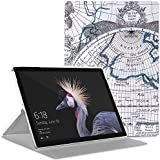 MoKo Microsoft Surface Pro 4 Case - Ultra Slim Lightweight Smart-shell Stand Cover Case for Microsoft Surface Pro 4 12.3 inch Tablet, Map F
