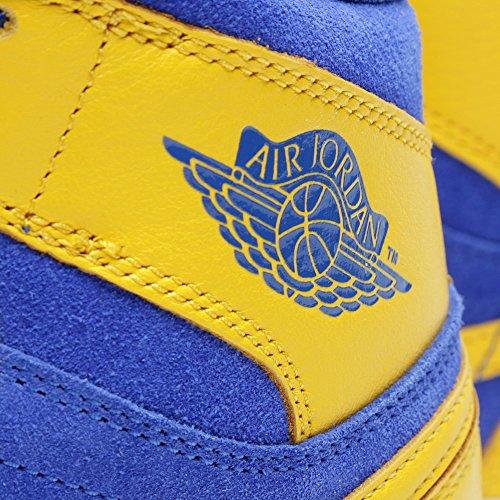 Nike Herren Air Jordan 1 Retro High OG Turnschuhe, Weiß, S Gelb - gelb