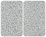 WENKO 2521120100 Herdabdeckplatte Universal Granit - 2er Set, für alle Herdarten, Gehärtetes Glas, Mehrfarbig