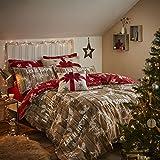 Catherine Lansfield Christmas Garland, Copripiumino Matrimoniale per letto king, colore: Rosso/naturale