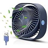 opamoo Ventilateur USB, Mini Ventilateur de Bureau Ventilateur Portable 3 Vitesses 360° Réglable Silencieux Ventilateur pour