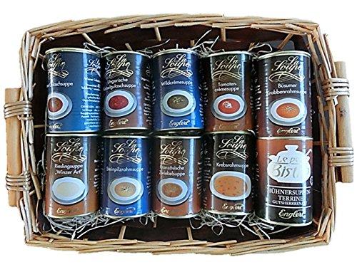 Geschenkkorb Suppen-Kasper, 10x390ml | gut als: Geschenkkorb lustig, gefüllt, Geschenkkorb Lebensmittel, Geschenkkorb Hochzeit, Geschenkkorb für Sohn, Geschenkkorb für Mann, Geschenkset für Ihn, Geschenkidee für Männer, für Mann