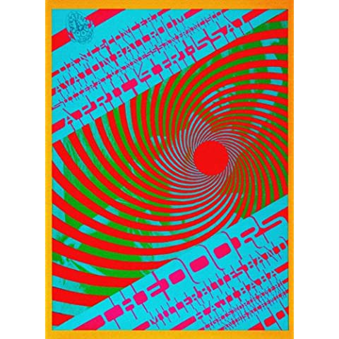 Imagenation la Porte-Poster Psychedelic-100% cotone con stampa